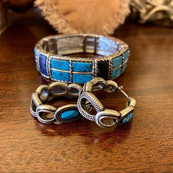 Lia Sophia Jewelry - Lia Sophia Turquoise earrings and bracelet